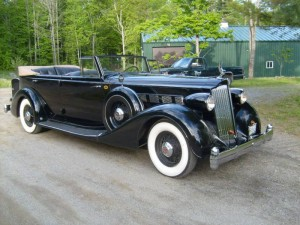 1936 Packard Super 8 Convertible Sedan - Rebuilt engine runs great!  A super tour car! $129,500 CLICK THE PHOTO FOR MORE DETAILS