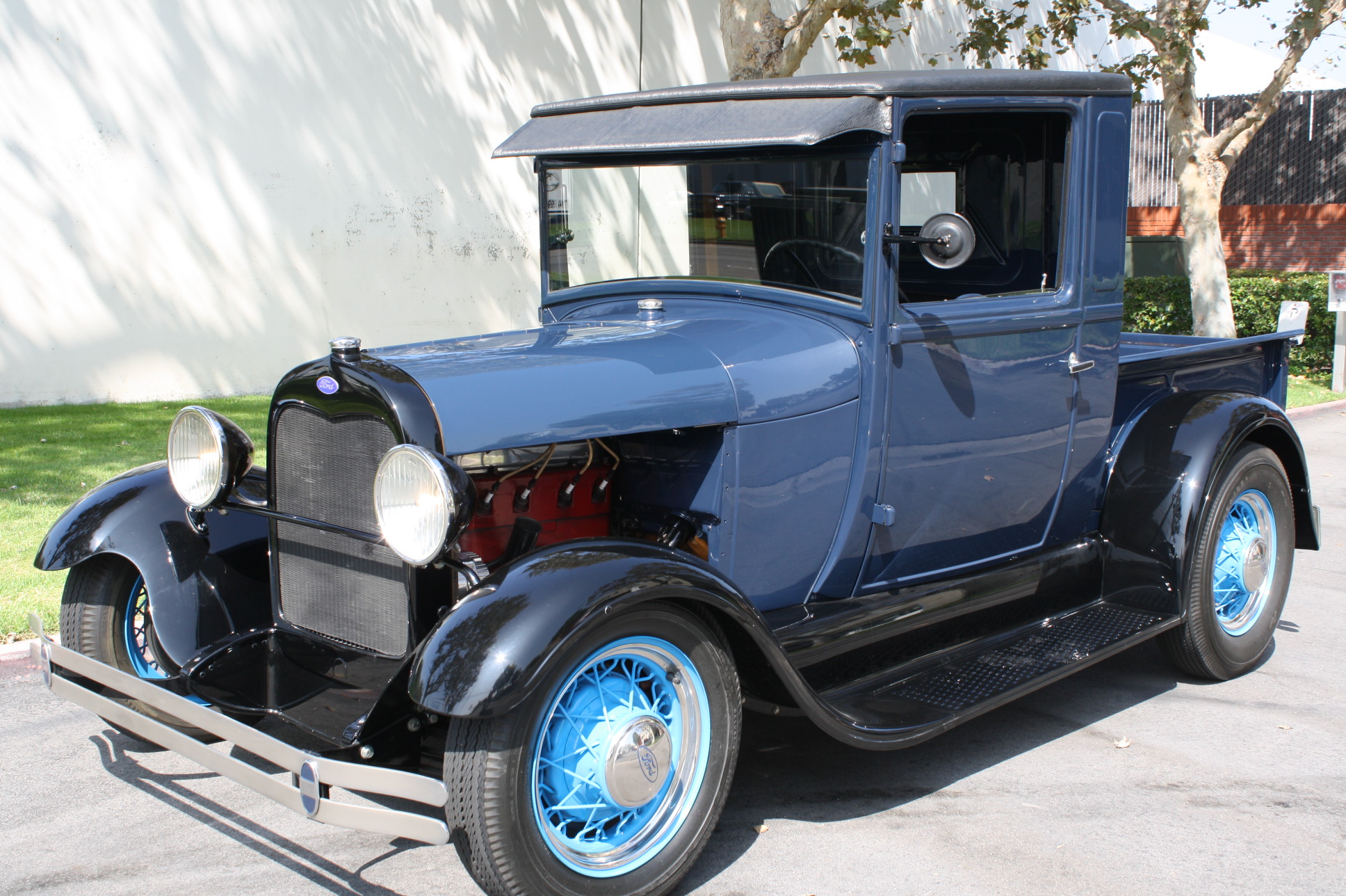 1928 ford model a pickup with miller speed equipment  here