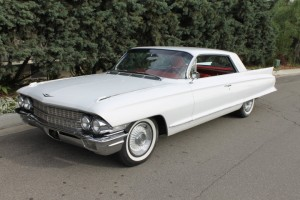 1962 Cadillac Coupe deVille 2 door hardtop. Factory A/C, Factory red bucket seats, excellent condition throughout! $23,500