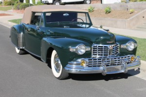 1947 Lincoln Continental Cabriolet. Beautifully restored, V-12 Lincoln engine rebuilt, a wonderful car being sold to settle estate. $57,500 CLICK THE PHOTO FOR MORE DETAILS