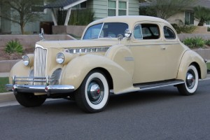 1940 Packard 160 Business coupe. Full CCCA Classic, sidemounts, 356 engine, factory overdrive, cormorant, spotlight, heater, radio. COMING SOON!
