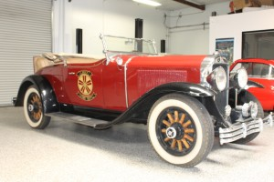 1929 Buick Roadster. Model 121, with big 309 inch 6 cylinder engine.  Fire chief equipment including sirent! $32,000 CLICK THE PHOTO FOR MORE DETAIL