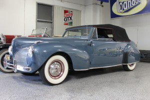 1941 Lincoln Continental Cabriolet. V-12. Totally restored, top show winner, multiple Lincoln Continental owner's club  trophies. Coming soon!