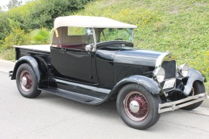 1929 Ford Roadster Pickup - Traditional Hot Rod with Cragar Overhead cylinder head, T-5 five speed transmission,  high quality build. Toured Europe twice and Australia once!  High quality and all sorted out. $33,500 CLICK THE PHOTO FOR MORE DETAILS
