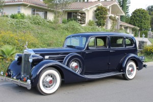 1935 Packard Twelve 1208 Seven Passenger. Nicely restored to a touring standard. Rebuilt V-12, Packard Blue. $79,500