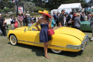 At Pebble Beach, the entrants and participants rise to the occasion and look as sharp as their cars!